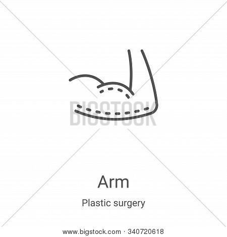arm icon isolated on white background from plastic surgery collection. arm icon trendy and modern ar