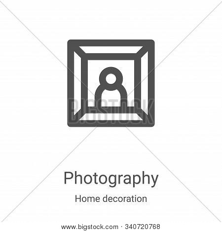 photography icon isolated on white background from home decoration collection. photography icon tren