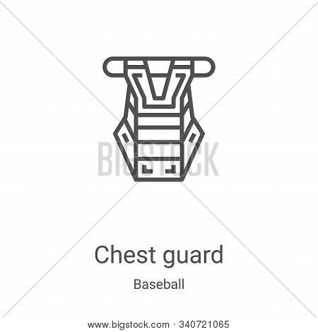chest guard icon isolated on white background from baseball collection. chest guard icon trendy and