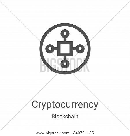 cryptocurrency icon isolated on white background from blockchain collection. cryptocurrency icon tre