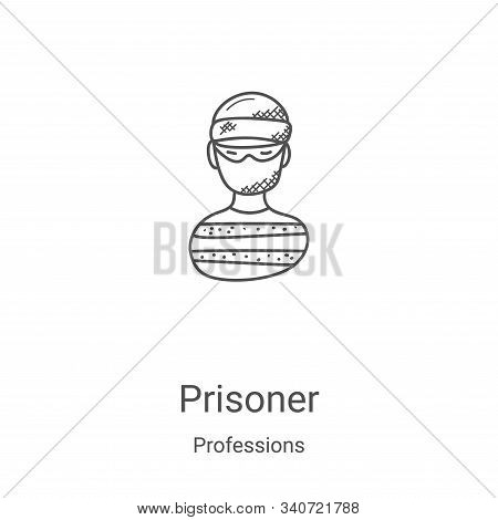 prisoner icon isolated on white background from professions collection. prisoner icon trendy and mod