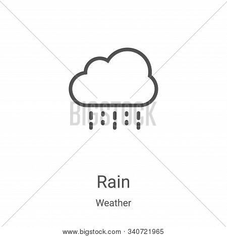 rain icon isolated on white background from weather collection. rain icon trendy and modern rain sym