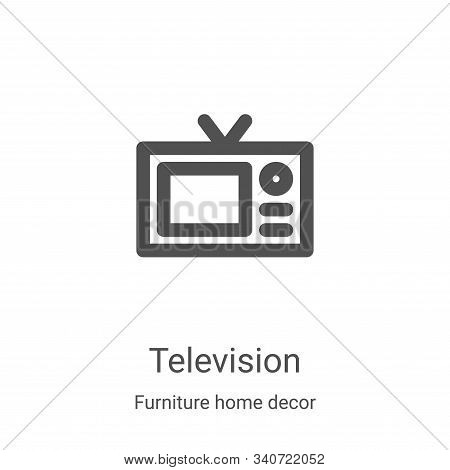 television icon isolated on white background from furniture home decor collection. television icon t