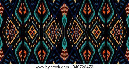Pink Ogee Tribal. Cobalt Carpet Vector Seamless Pattern. African Tile Elegant Ornament. Coral Tradit