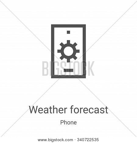 weather forecast icon isolated on white background from phone collection. weather forecast icon tren