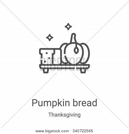 pumpkin bread icon isolated on white background from thanksgiving collection. pumpkin bread icon tre