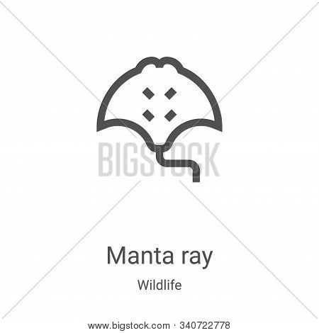 manta ray icon isolated on white background from wildlife collection. manta ray icon trendy and mode