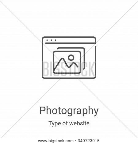 photography icon isolated on white background from type of website collection. photography icon tren