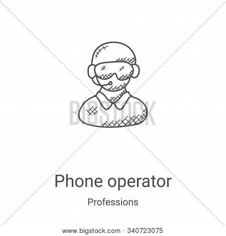 phone operator icon isolated on white background from professions collection. phone operator icon tr