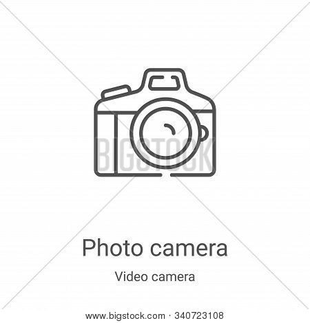 photo camera icon isolated on white background from video camera collection. photo camera icon trend