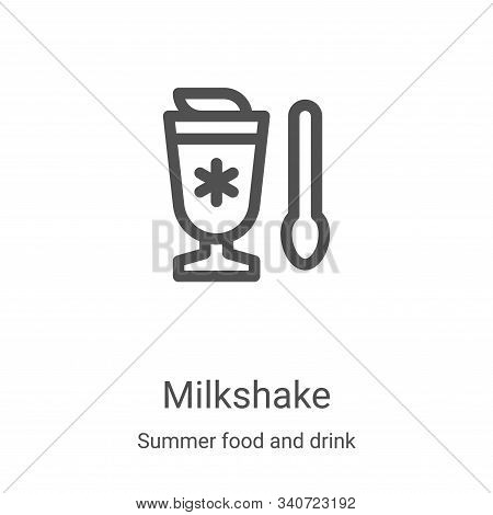 milkshake icon isolated on white background from summer food and drink collection. milkshake icon tr