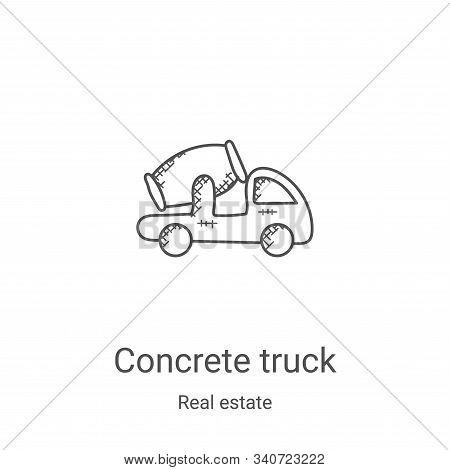 concrete truck icon isolated on white background from real estate collection. concrete truck icon tr