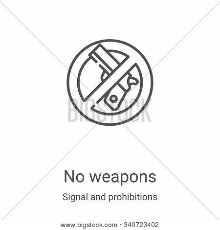 no weapons icon isolated on white background from signal and prohibitions collection. no weapons ico