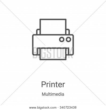 printer icon isolated on white background from multimedia collection. printer icon trendy and modern