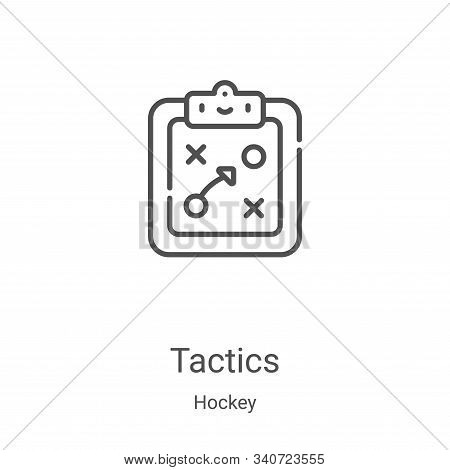 tactics icon isolated on white background from hockey collection. tactics icon trendy and modern tac