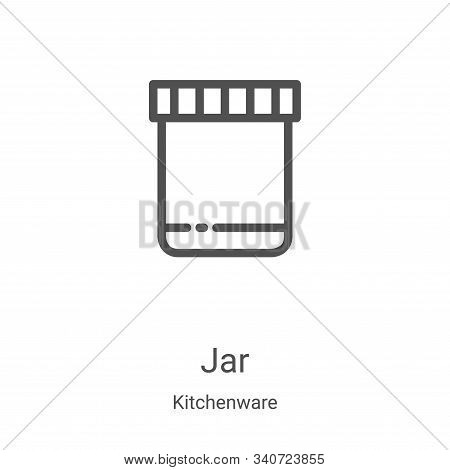 jar icon isolated on white background from kitchenware collection. jar icon trendy and modern jar sy