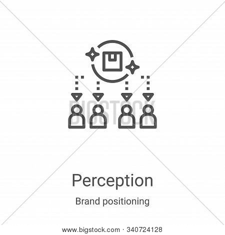 perception icon isolated on white background from brand positioning collection. perception icon tren