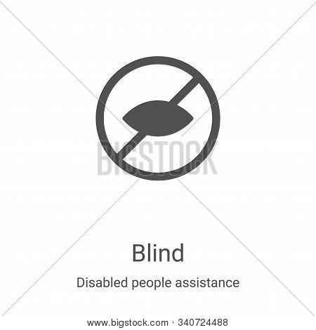 blind icon isolated on white background from disabled people assistance collection. blind icon trend