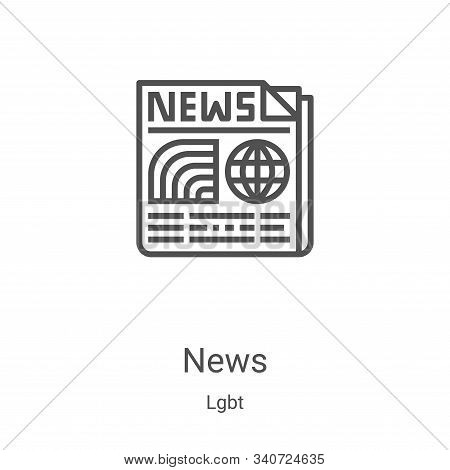 news icon isolated on white background from lgbt collection. news icon trendy and modern news symbol