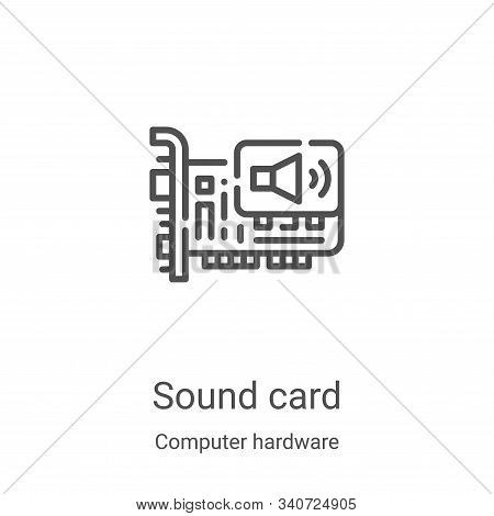 sound card icon isolated on white background from computer hardware collection. sound card icon tren