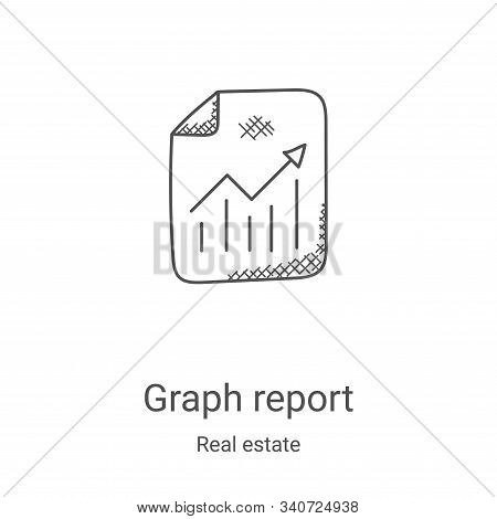 graph report icon isolated on white background from real estate collection. graph report icon trendy