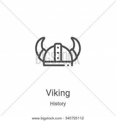 viking icon isolated on white background from history collection. viking icon trendy and modern viki