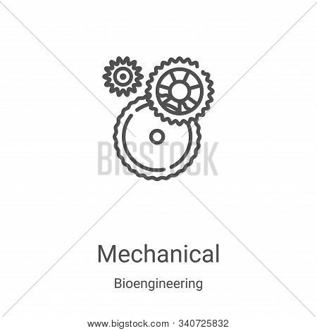 mechanical icon isolated on white background from bioengineering collection. mechanical icon trendy