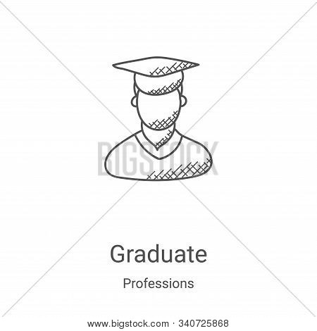graduate icon isolated on white background from professions collection. graduate icon trendy and mod