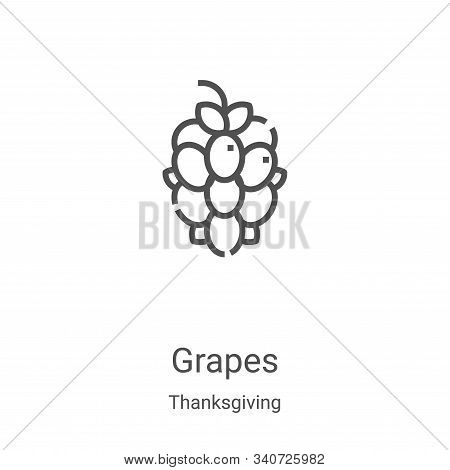 grapes icon isolated on white background from thanksgiving collection. grapes icon trendy and modern
