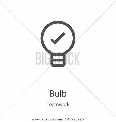 bulb icon isolated on white background from teamwork collection. bulb icon trendy and modern bulb sy