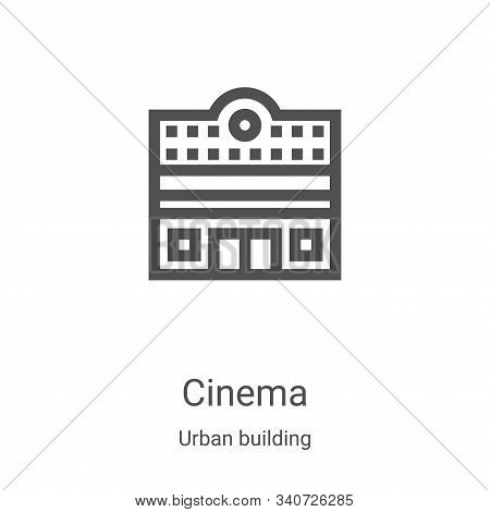 cinema icon isolated on white background from urban building collection. cinema icon trendy and mode