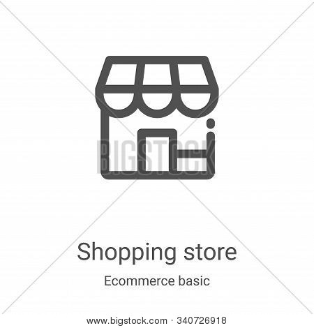 shopping store icon isolated on white background from ecommerce basic collection. shopping store ico