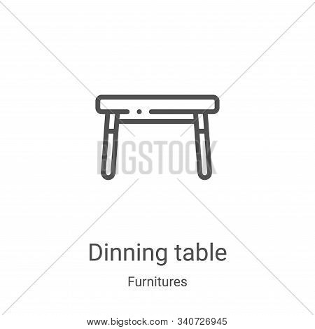 dinning table icon isolated on white background from furnitures collection. dinning table icon trend