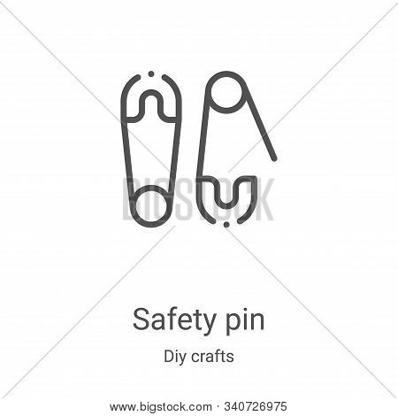 safety pin icon isolated on white background from diy crafts collection. safety pin icon trendy and
