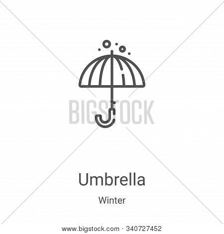 umbrella icon isolated on white background from winter collection. umbrella icon trendy and modern u