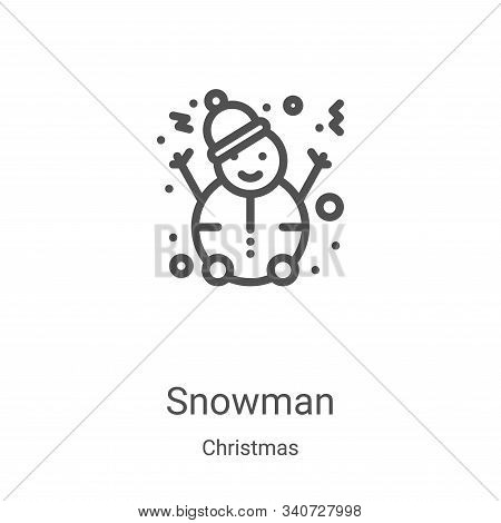 snowman icon isolated on white background from christmas collection. snowman icon trendy and modern