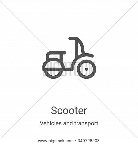 scooter icon isolated on white background from vehicles and transport collection. scooter icon trend