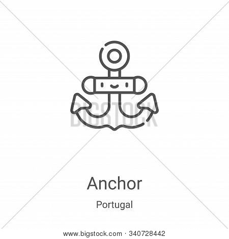 anchor icon isolated on white background from portugal collection. anchor icon trendy and modern anc