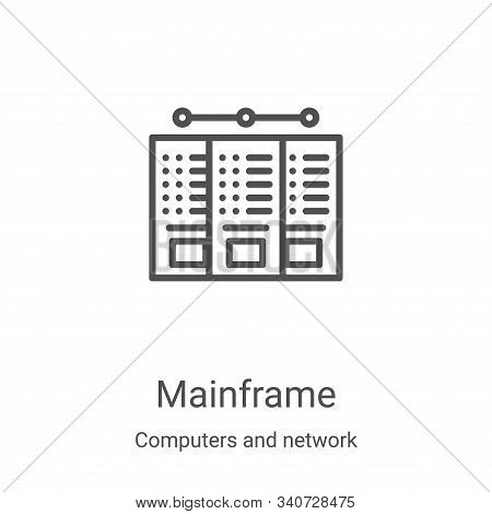 mainframe icon isolated on white background from computers and network collection. mainframe icon tr