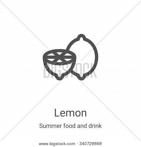 lemon icon isolated on white background from summer food and drink collection. lemon icon trendy and