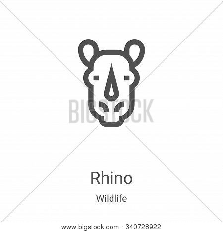 rhino icon isolated on white background from wildlife collection. rhino icon trendy and modern rhino