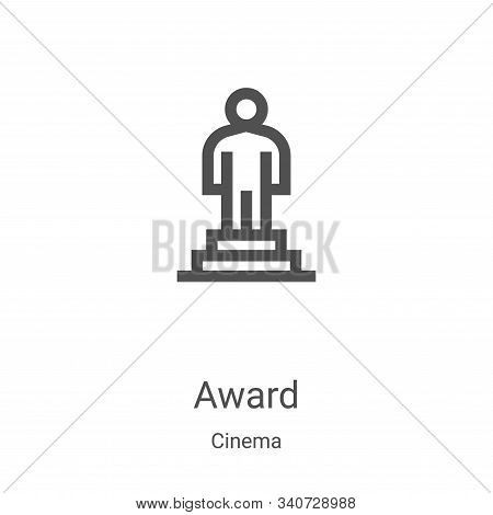 award icon isolated on white background from cinema collection. award icon trendy and modern award s