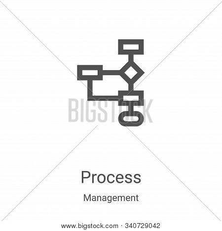 process icon isolated on white background from management collection. process icon trendy and modern