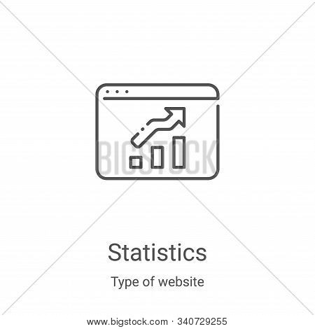 statistics icon isolated on white background from type of website collection. statistics icon trendy