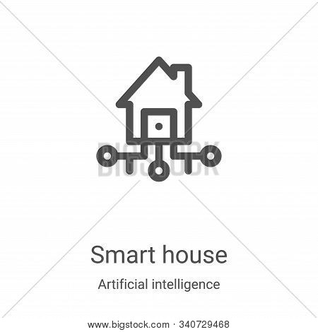 smart house icon isolated on white background from artificial intelligence collection. smart house i