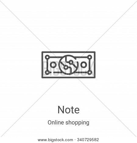 note icon isolated on white background from online shopping collection. note icon trendy and modern