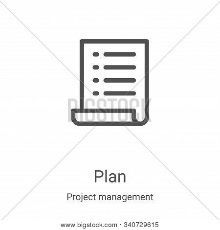 plan icon isolated on white background from project management collection. plan icon trendy and mode