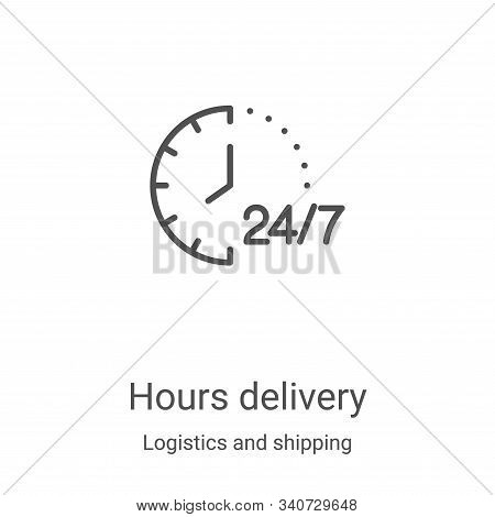 hours delivery icon isolated on white background from logistics and shipping collection. hours deliv
