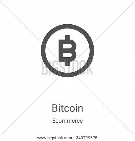 bitcoin icon isolated on white background from ecommerce collection. bitcoin icon trendy and modern