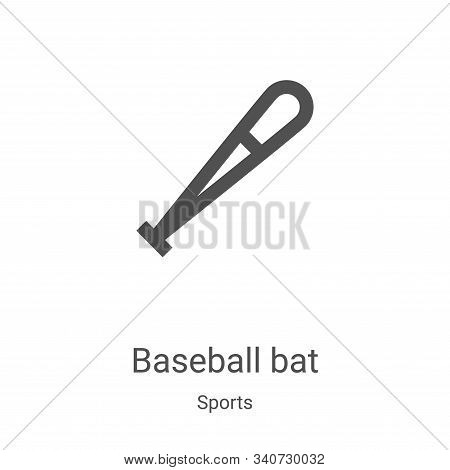 baseball bat icon isolated on white background from sports collection. baseball bat icon trendy and